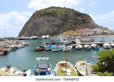 Harbor of Sant'Angelo, Ischia Island, Naples, Italy