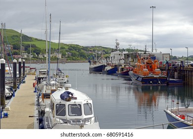 Harbor scene at Campbeltown on the Kintyre peninsula in Argyll, Scotland, United Kingdom