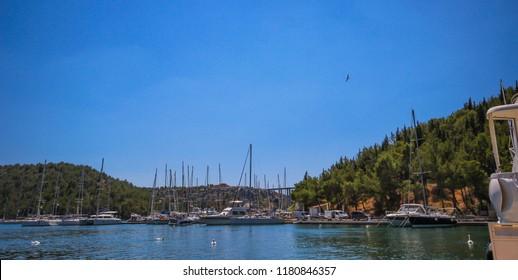 harbor of Skradin, Croatia