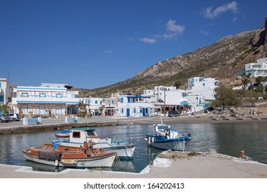 the harbor of the small village Finiki on the greek island Karpathos