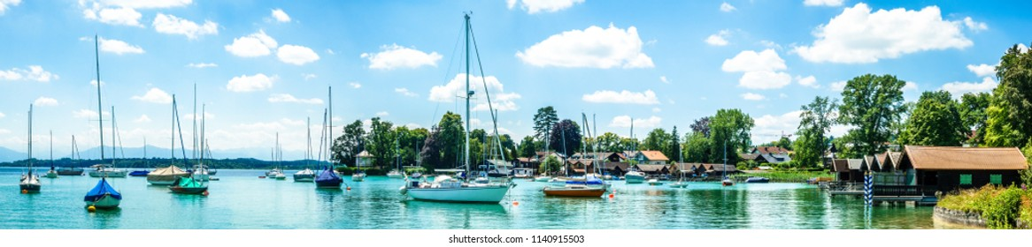 harbor at starnberg lake in bavaria