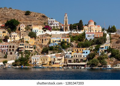 Harbor of Symi with its pictorial houses