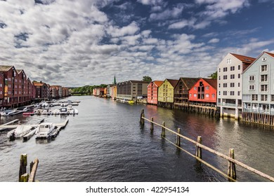 Harbor of Trondheim, Norway