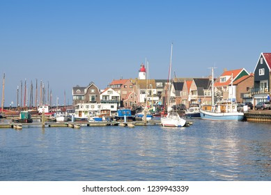 Harbor of Urk at Ijsselmeer in Overijssel Province,Netherlands
