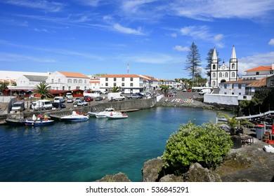 Harbor and village of Madalena, Pico island, azores