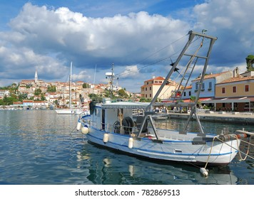 Harbor of Vrsar at adriatic Sea in Istria,Croatia