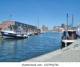 Harbor of Wismar at baltic Sea in Mecklenburg western Pomerania,Germany