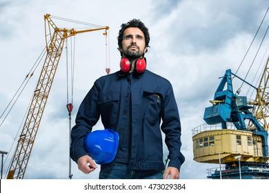 Harbor worker portrait
