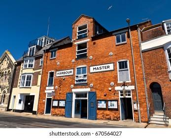 Harbormaster office; red brick victorian building harbourmaster