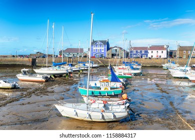 The harbour at Aberaeron, a small seaside town between Aberystwyth and Cardigan on the coast of Wales