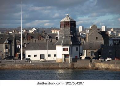 Harbour in Aberdeen, Scotland, United Kingdom. February 2018