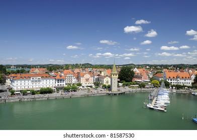 harbour aerial view, lindau