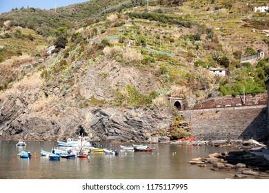 harbour area in Vernazza, Cinque Terre, Italy