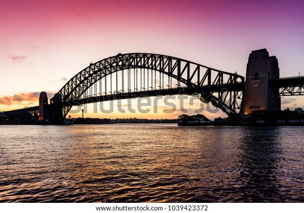 Harbour Bridge in Darling Harbour of Sydney, Australia