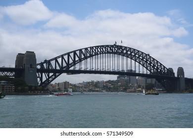 The Harbour Bridge in Sydney,Australia