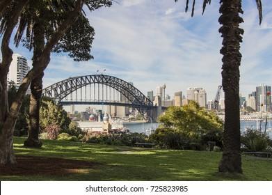 Harbour Bridge view from Wendy's Secret Garden Sydney Australia
