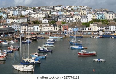 Harbour at Brixham, a quaint fishing town in Devon, England