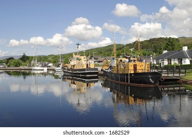 Harbour at Caledonian canal