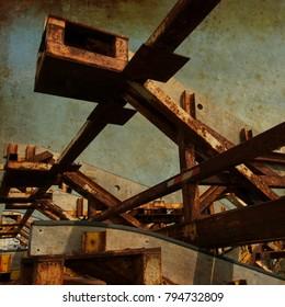 Harbour crane abandoned