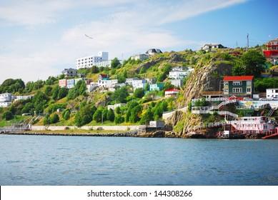 Harbour front village in St. John's
