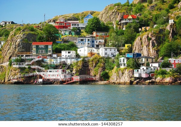 Harbour front village in St. John's