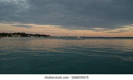 Harbour Island town, Eleuthera. Bahamas. Beautiful tropical Caribbean town