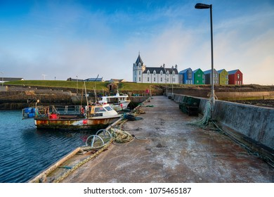The harbour at John O Groats on the northern tip of Scotland and the most northern point in Britain