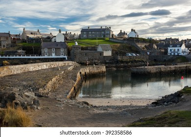 Harbour landscape at Portsoy, Aberdeenshire, Scotland UK.
