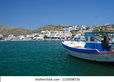 Harbour of Leipsoi island in Dodecanese, Greece 2017