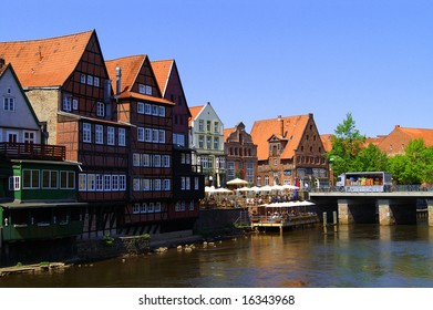 Harbour of Lueneburg, Oldtown. Lower Saxony in Germany