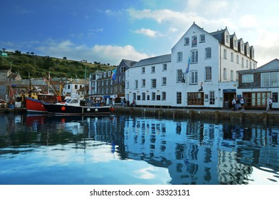 harbour at mevagissey,cornwall,england.
