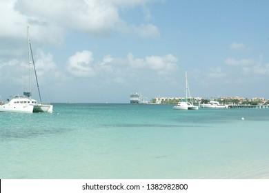 Harbour Oranjestad Aruba Dutch Caribbean
