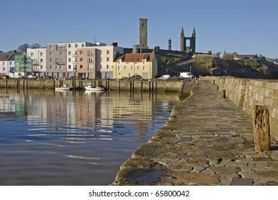 Harbour scene, St.Andrews, Fife, Scotland
