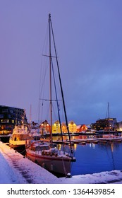 Harbour of Tromso, Norway, Europe. Tromso is considered the northernmost city in the world