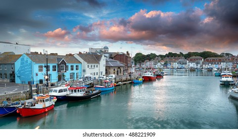 The harbour at Weymouth on the Dorset coast