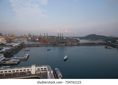 HARBOURFRONT, SINGAPORE, SEPTEMBER, 2016: harbor view of Singapore