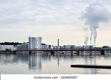 Harbourside In Aalborg in Denmark. 2018