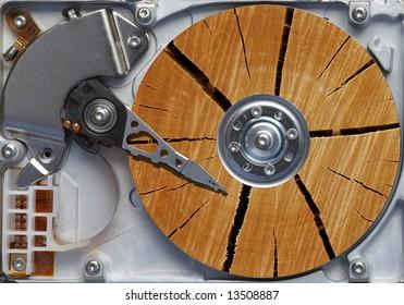 Hard disc like blockwood