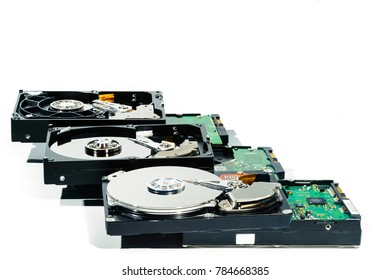 hard disk for computer on isolated white background
