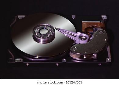 Hard disk dark background