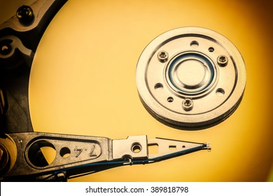 A hard disk drive is a data storage device used for storing and retrieving digital information using rapidly rotating disks (platters) coated with magnetic material / hard disk drive