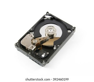 Hard disk drive (HDD) isolate on white background