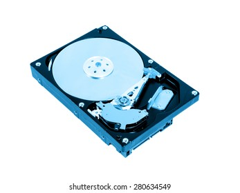Hard disk drive inside.
