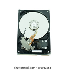 hard disk isolated on white background
