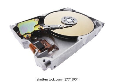 Hard Disk on Isolated Background