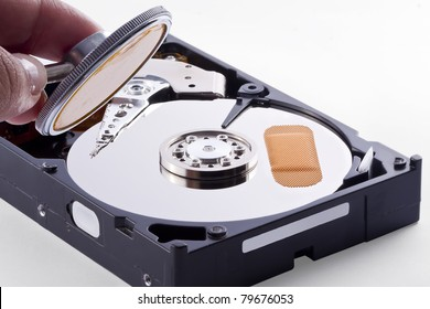 Hard Disk is sick, has a bad track and needs a doctor to retrive the stored information