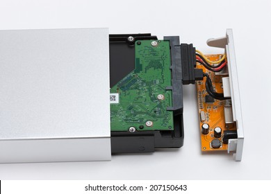Hard disk that was set in the case.