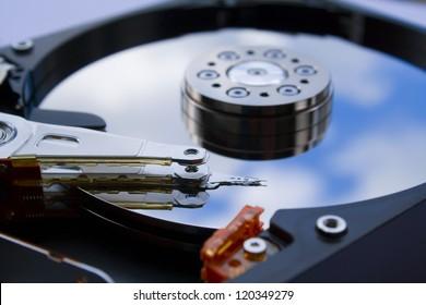 hard drive close up