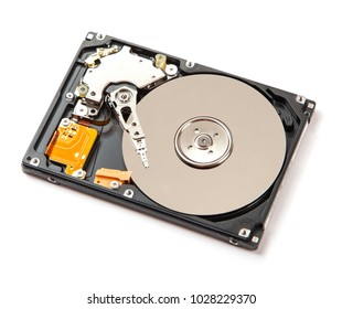Hard drive (HDD) isolated on white background