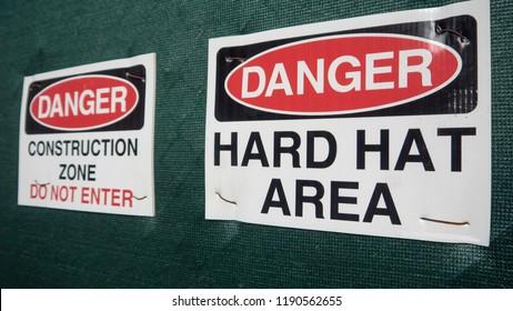 Hard Hat area sign